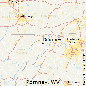 Romney,West Virginia Map
