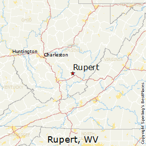 Rupert,West Virginia Map