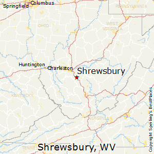 Shrewsbury,West Virginia Map