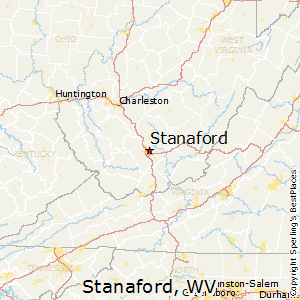Stanaford,West Virginia Map