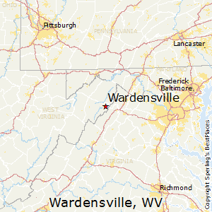 Wardensville,West Virginia Map