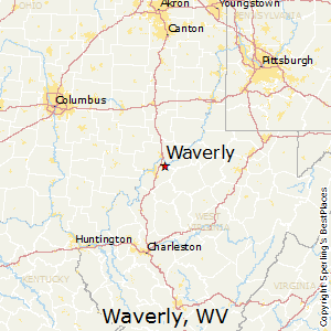 Waverly,West Virginia Map