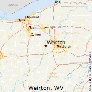 Weirton,West Virginia Map