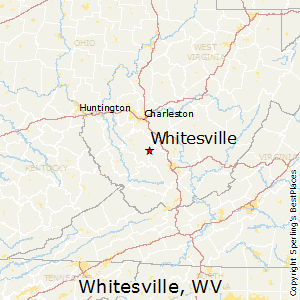Whitesville,West Virginia Map