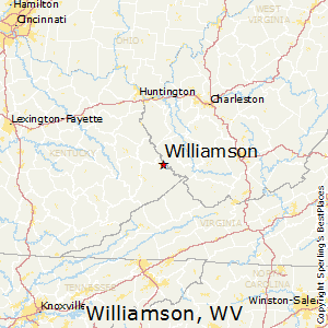 Williamson,West Virginia Map