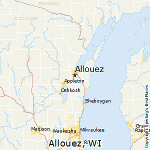 Allouez,Wisconsin Map