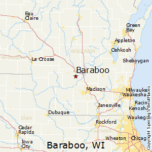 Baraboo,Wisconsin Map