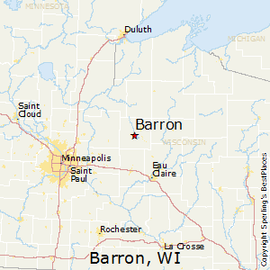 Barron,Wisconsin Map