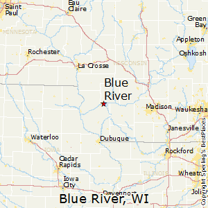 Blue_River,Wisconsin Map