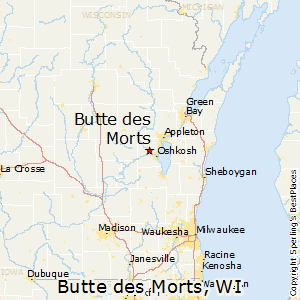 Butte_des_Morts,Wisconsin Map