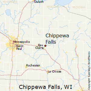 Chippewa_Falls,Wisconsin Map