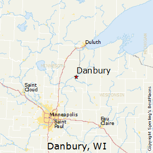 Danbury,Wisconsin Map