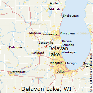 Delavan_Lake,Wisconsin Map