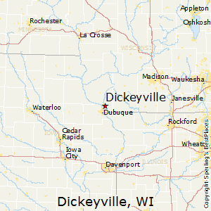 Dickeyville,Wisconsin Map