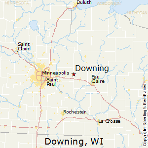 Downing,Wisconsin Map