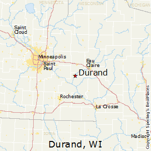 Durand,Wisconsin Map