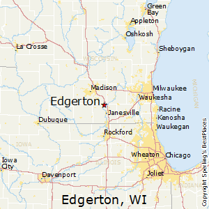 Edgerton,Wisconsin Map