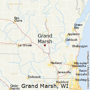 Grand_Marsh,Wisconsin Map