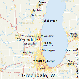 Greendale,Wisconsin Map