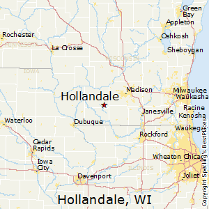 Hollandale,Wisconsin Map