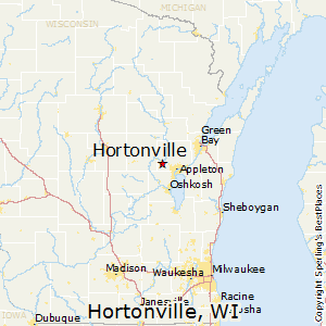 Hortonville,Wisconsin Map