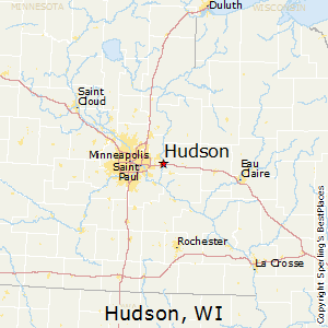 Hudson,Wisconsin Map