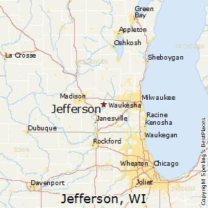 Jefferson,Wisconsin Map