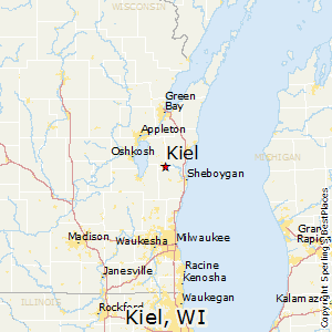 Kiel,Wisconsin Map