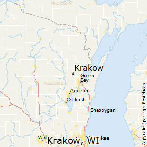 Krakow,Wisconsin Map