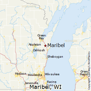 Maribel,Wisconsin Map