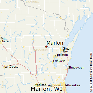 Marion Wisconsin Map.Best Places To Live In Marion Wisconsin