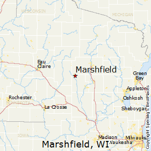 Marshfield,Wisconsin Map