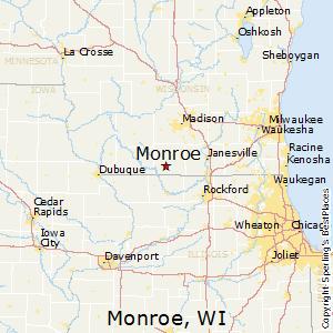 Comparison: Monroe, Wisconsin   Cuba City, Wisconsin