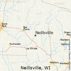 Neillsville,Wisconsin Map