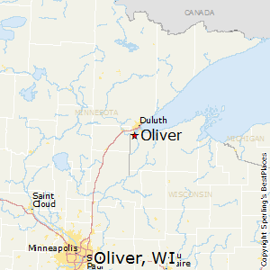 Oliver,Wisconsin Map