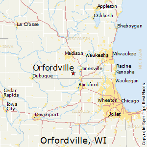 Orfordville,Wisconsin Map