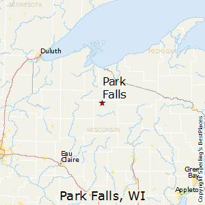 Park_Falls,Wisconsin Map