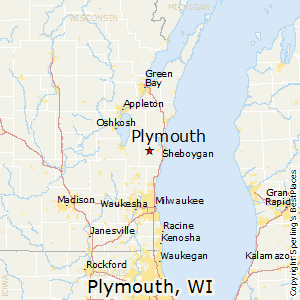 Plymouth,Wisconsin Map
