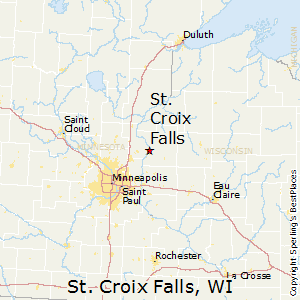 Colfax Wisconsin Map.St Croix Falls Wisconsin Economy