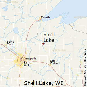 Shell_Lake,Wisconsin Map