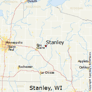 Stanley,Wisconsin Map