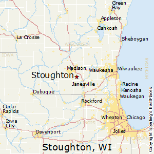 Stoughton,Wisconsin Map