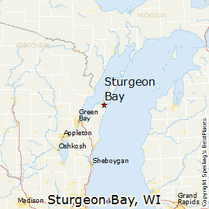 Sturgeon_Bay,Wisconsin Map
