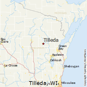 Tilleda,Wisconsin Map