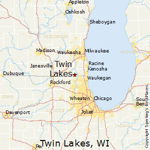 Twin_Lakes,Wisconsin Map