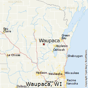 Waupaca,Wisconsin Map