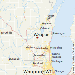 Waupun,Wisconsin Map
