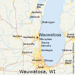 Wauwatosa,Wisconsin Map