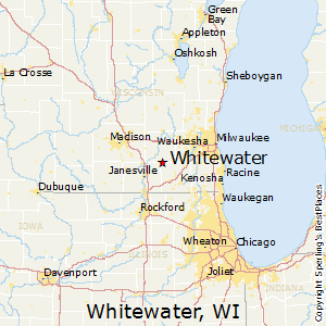 Whitewater,Wisconsin Map