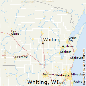 Whiting,Wisconsin Map